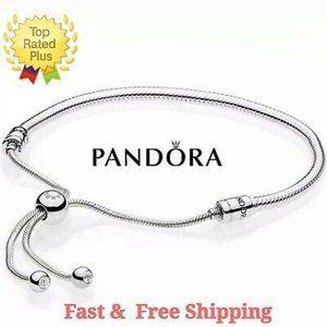 PANDORA Silver Adjustable Sliding Snake Chain